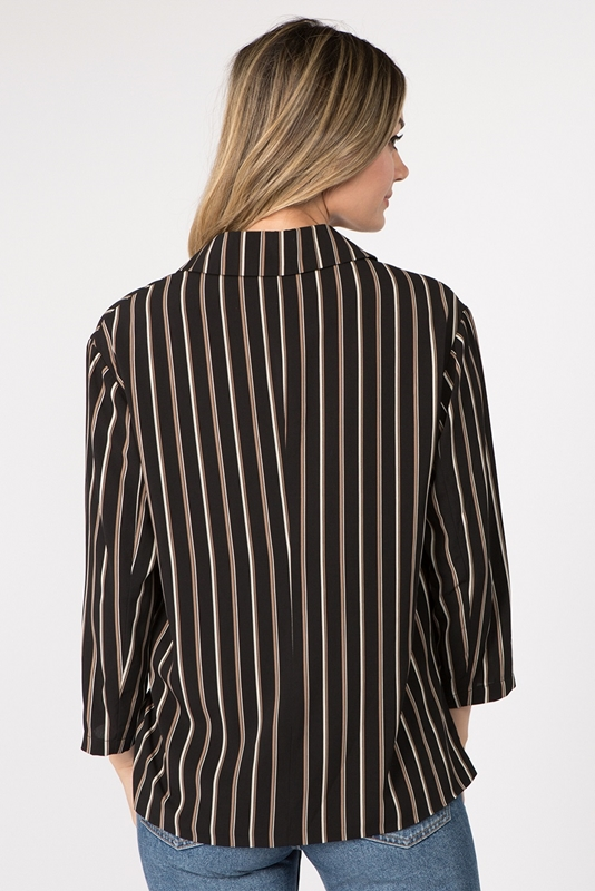 Picture of Striped Double Breasted Blazer