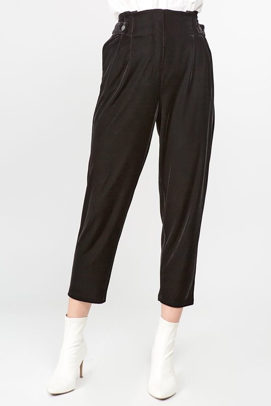 Picture of Velvet Tapered Crop Pants