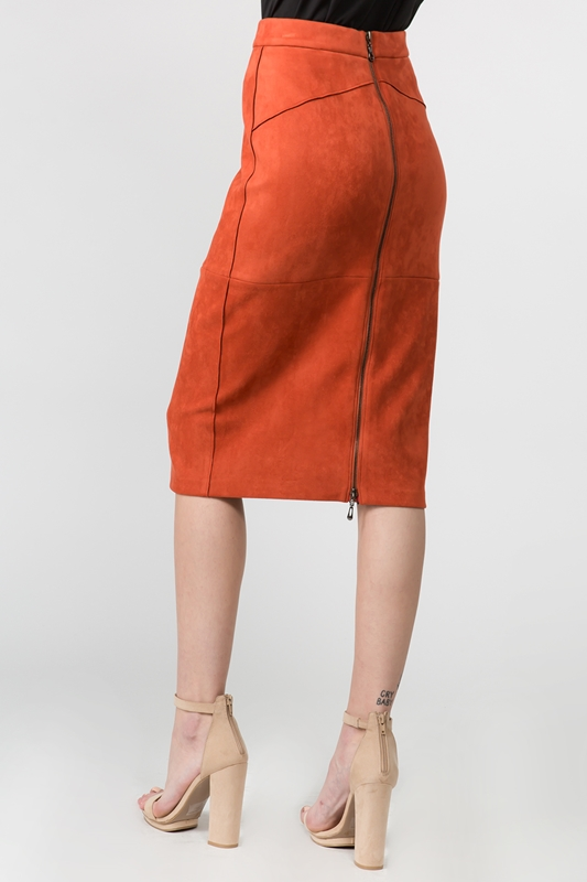 Picture of Suede Midi Straight Skirt
