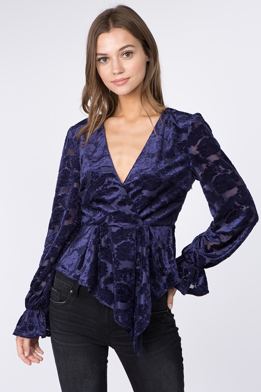 Picture of Floral Sheer Lace Top
