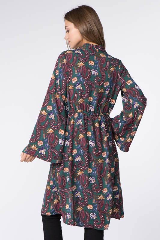 Picture of Bohemian Floral Print Cardigan