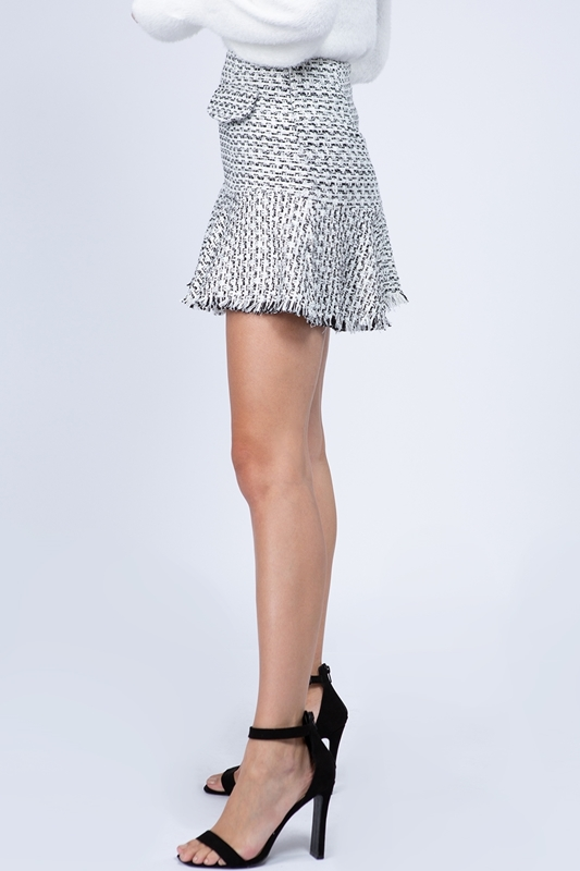 Picture of Tweed Tiered Mini Skirt